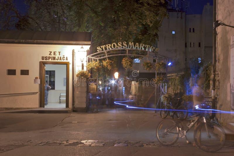 De promenade van Zagreb bij nacht royalty-vrije stock foto