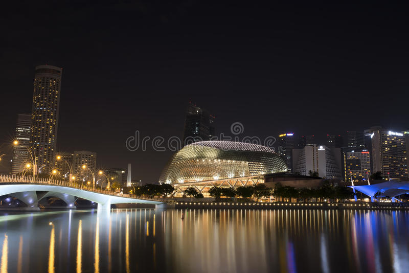 De Promenadetheater van Singapore stock fotografie