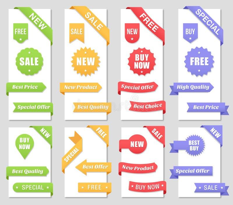 De promotieelementen van het verkoopontwerp vector illustratie