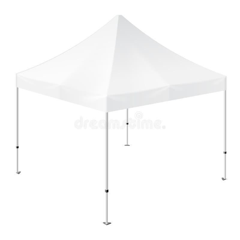 De promotiehandel van de Reclame Openluchtgebeurtenis toont Pop-Up Tent Mobiele Reclamemarkttent spot omhoog, malplaatje stock illustratie