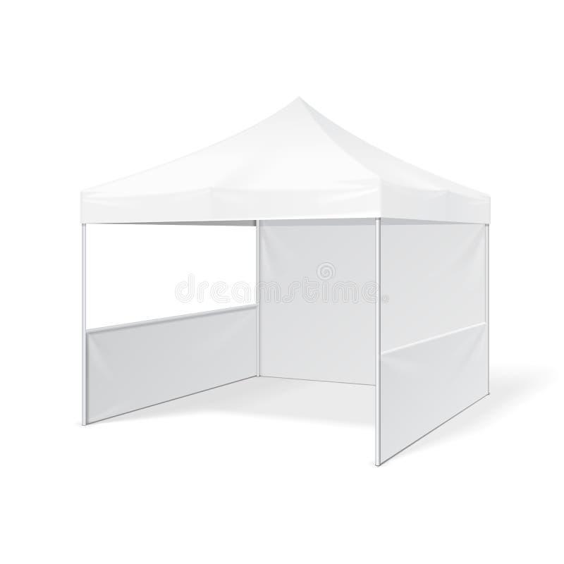 De promotiehandel van de Reclame Openluchtgebeurtenis toont Pop-Up Tent Mobiele Reclamemarkttent Spot omhoog vector illustratie