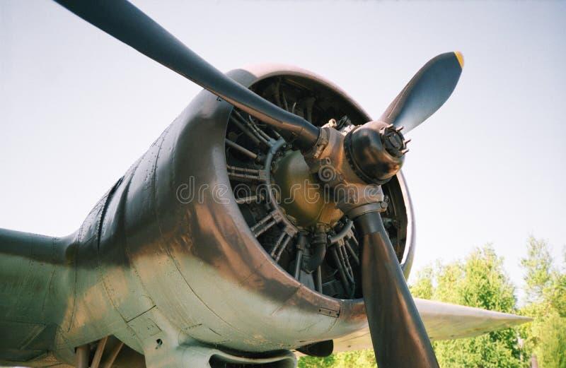 De propeller van het vliegtuig stock afbeelding
