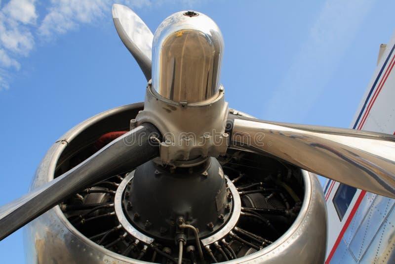 De propeller van het vliegtuig royalty-vrije stock afbeelding