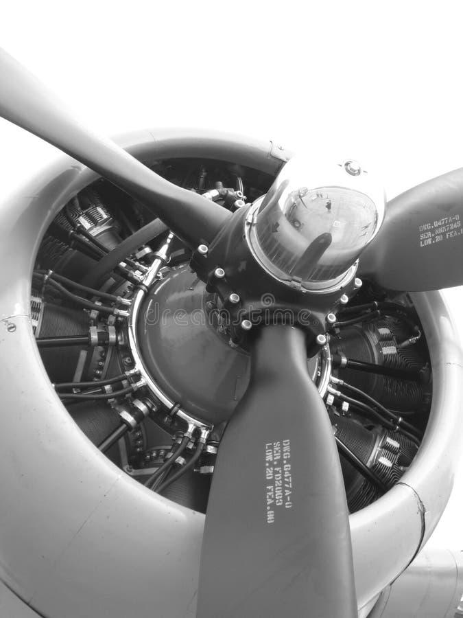 De Propeller van het Vliegtuig van de oorlog stock foto