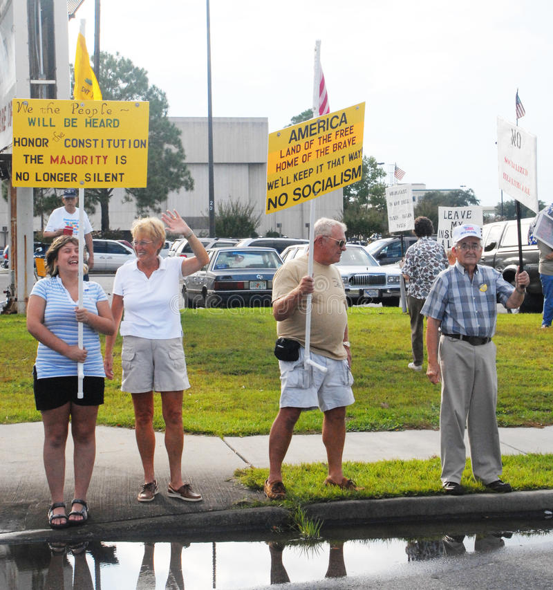 De Protesteerders van het theekransje royalty-vrije stock foto