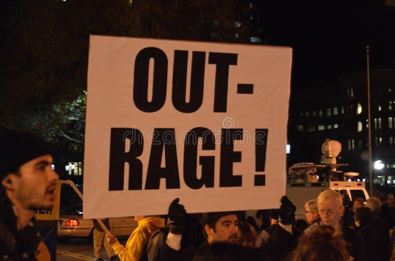 De Protesten van het Fergusonbesluit in Oakland Californië royalty-vrije stock afbeeldingen