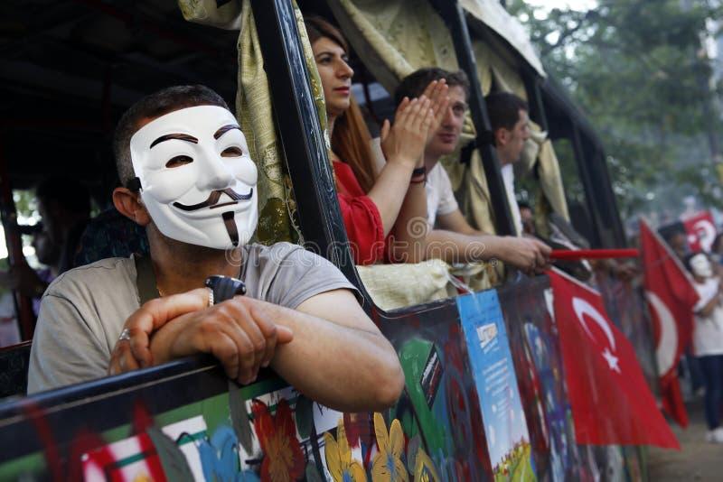 De Protesten van het Gezipark in Istanboel royalty-vrije stock afbeelding