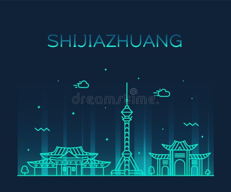 De Provincie China van Hebei van de Shijiazhuanghorizon een vector vector illustratie