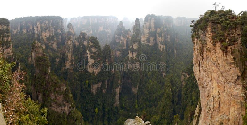 De provincie van China, Hunan, het Parkavatar van Zhangjiajie Nationaal Park, karst zandsteenpijlers royalty-vrije stock foto