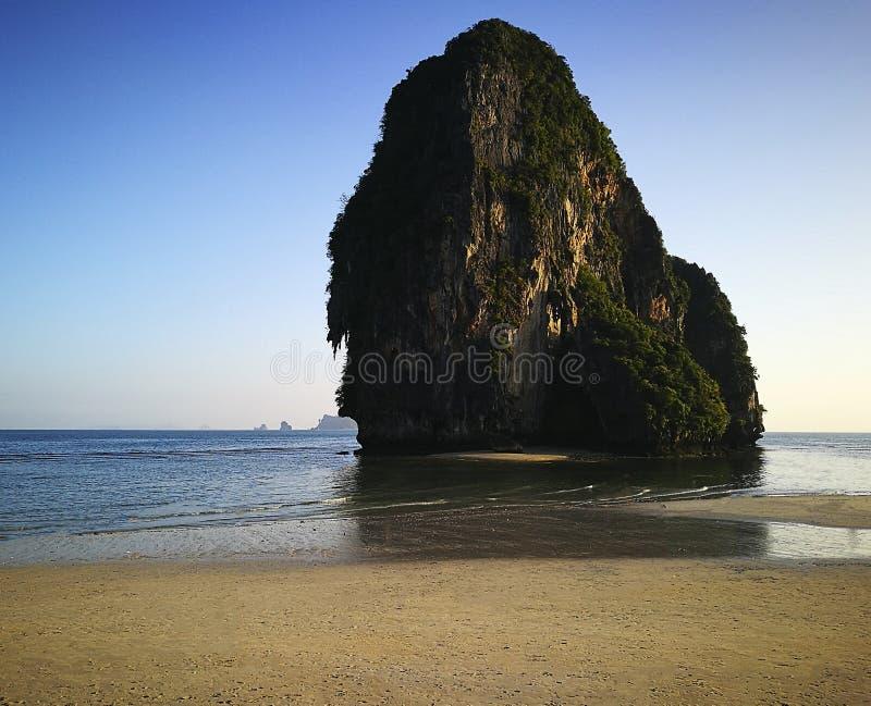 De provincie van het Railaystrand van Krabi Thailand Azië stock afbeeldingen