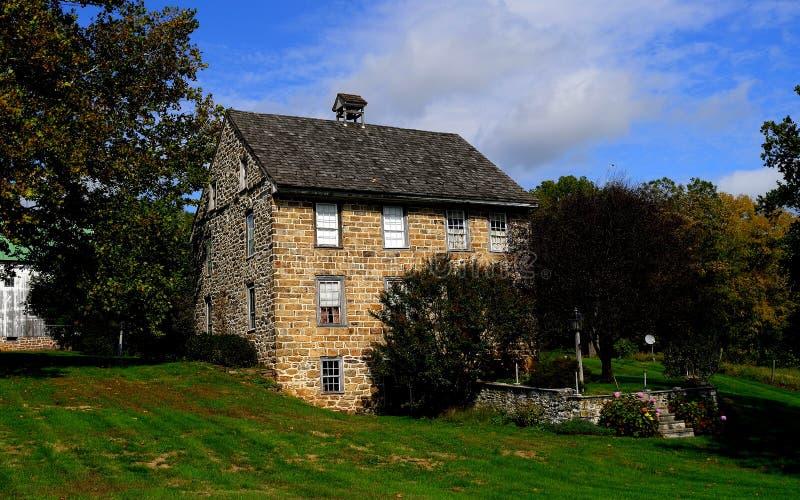 De Provincie van Lancaster, PA: Het Huis van de Fieldstone 19de Eeuw stock foto's