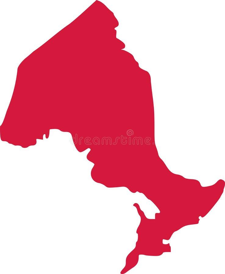 De provincie van Ontario van Canada royalty-vrije illustratie