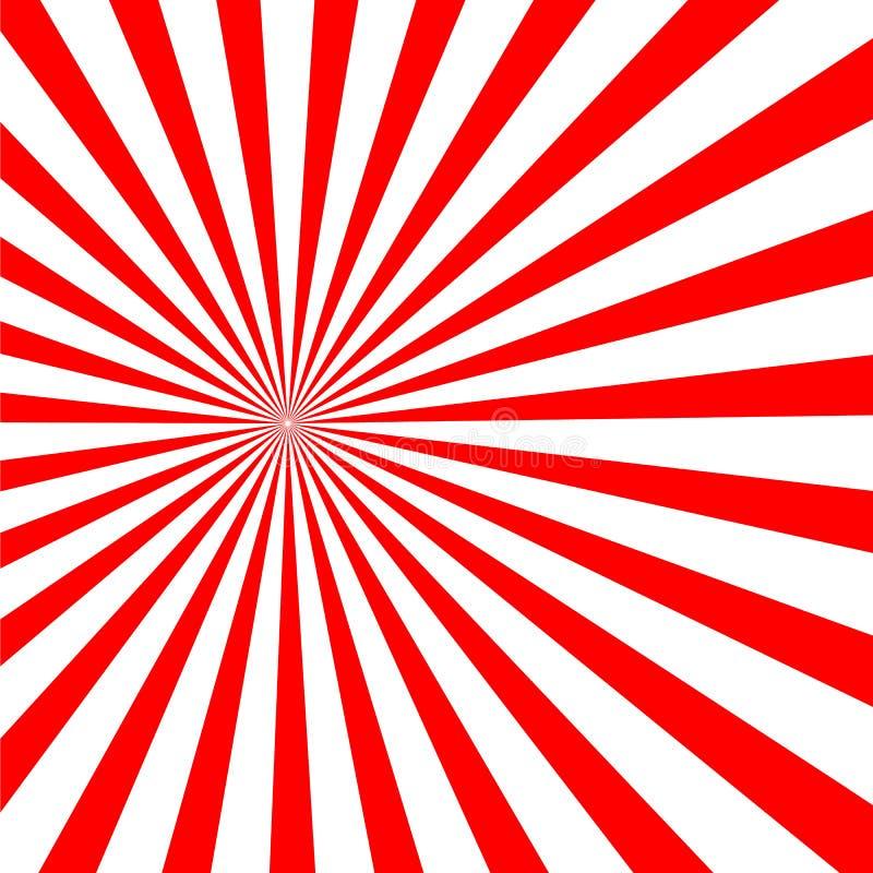 De psychedelische spiraal met radiale stralen, draai, verdraaide grappig effect, draaikolkachtergronden vector illustratie