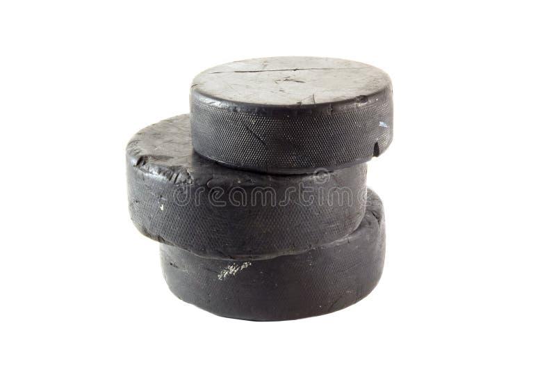 De pucks van het ijshockey royalty-vrije stock afbeelding