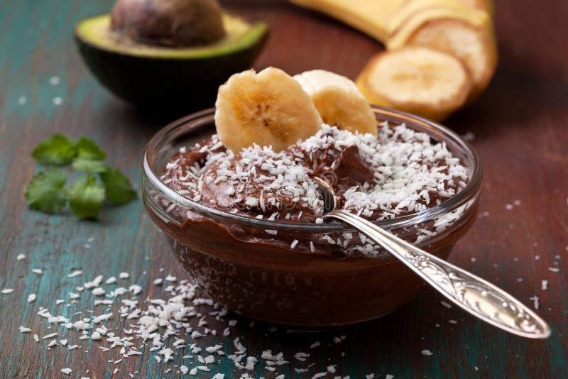 De pudding van de avocadobanaan royalty-vrije stock afbeelding