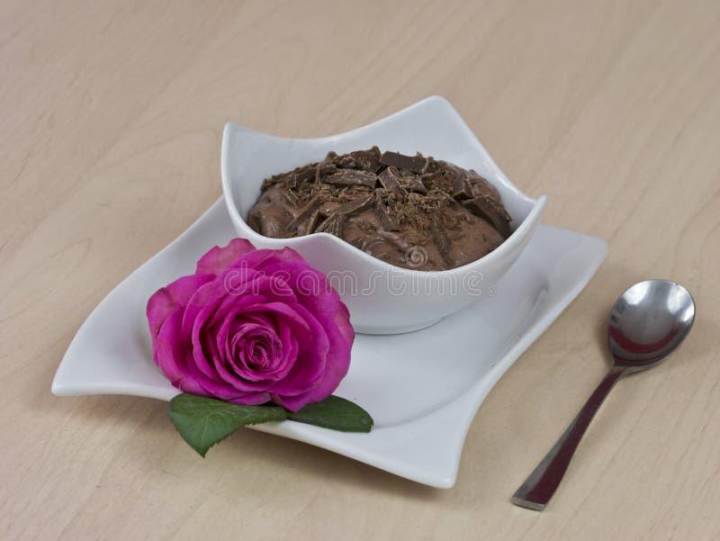 De pudding van de chocolade stock foto's