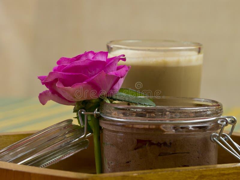De pudding van de chocolade stock foto