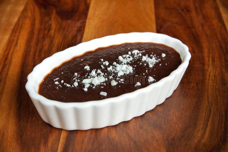 De pudding van de vanille stock foto