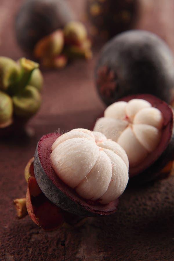 De pulp van de mangostan royalty-vrije stock afbeeldingen