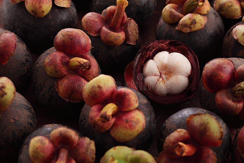 De pulp van de mangostan royalty-vrije stock fotografie
