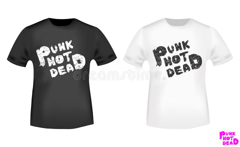 De punk niet dode zegel van de t-shirtdruk Vector illustratie stock illustratie