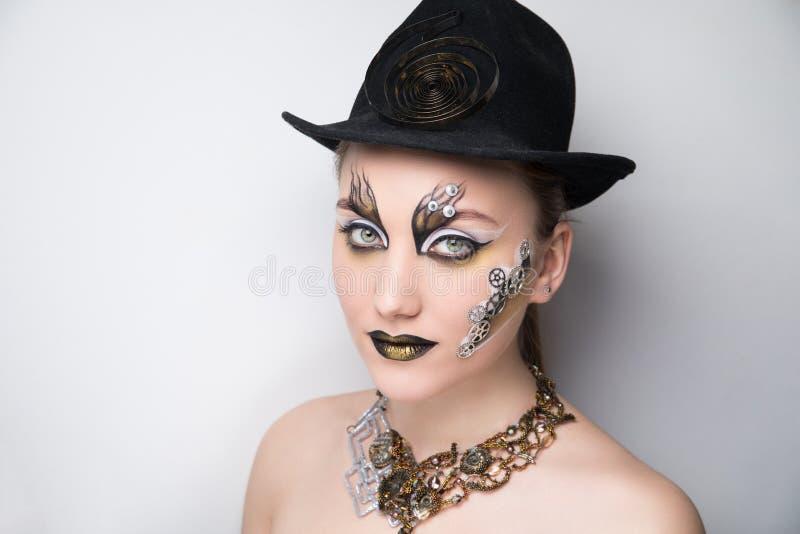 De punker van de vrouwenstoom maakt omhoog royalty-vrije stock afbeelding