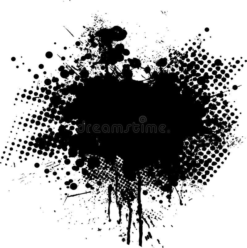 De punt van de inkt splat vector illustratie