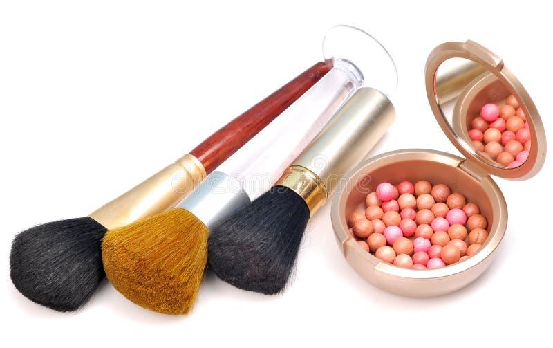 De punten van de make-up stock foto's