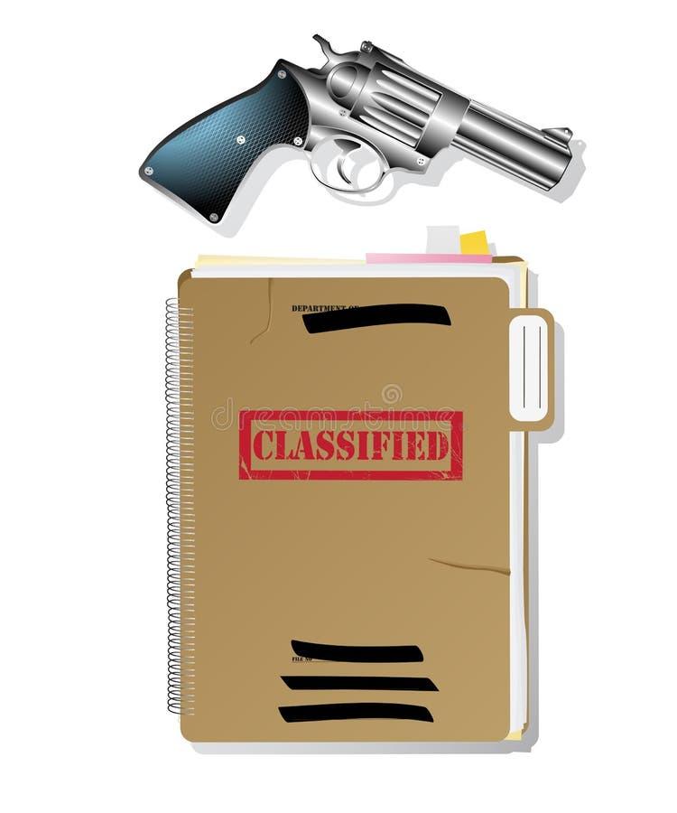 De punten van de spion. stock illustratie