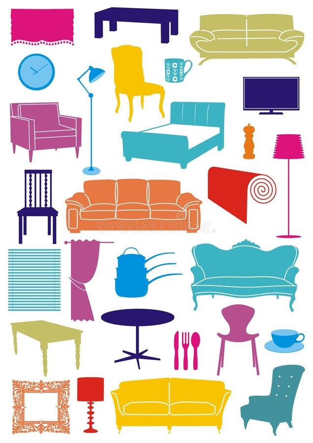 De punten van het huishouden royalty-vrije illustratie