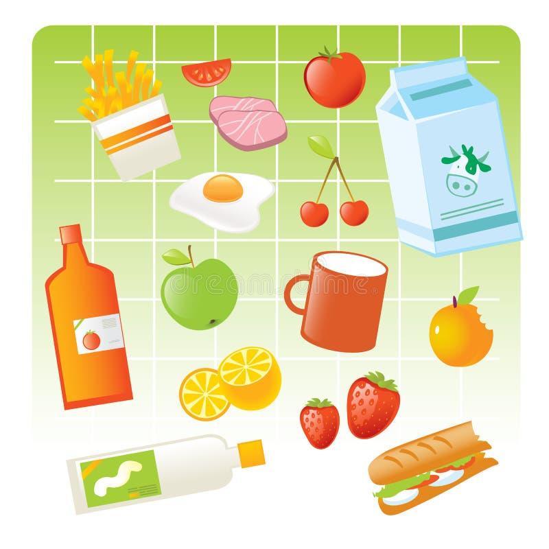 De punten van het voedsel vector illustratie