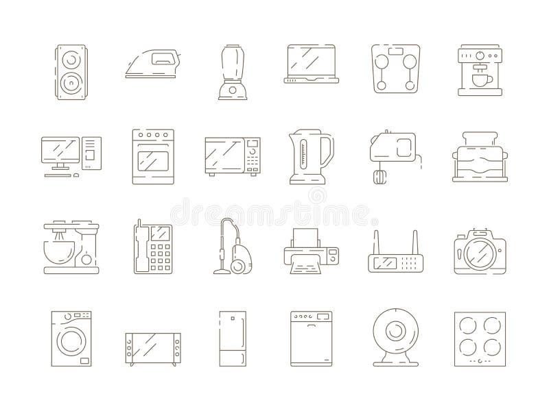 De punten van huishuishoudens Van de de mixermicrogolf van keukenelektrische apparaten van de de computerijskast van TV vector du vector illustratie