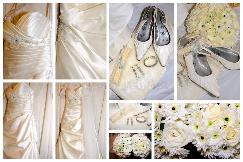 De puntencollage van bruiden royalty-vrije stock afbeelding