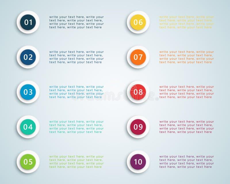 De Puntenvector 2 van de aantalkogel stock illustratie