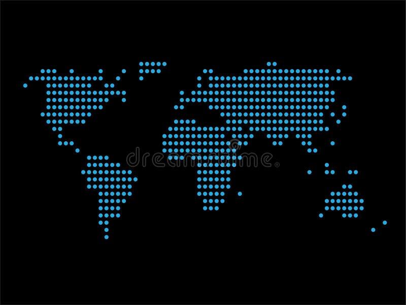 De puntontwerp van de wereldkaart stock afbeelding