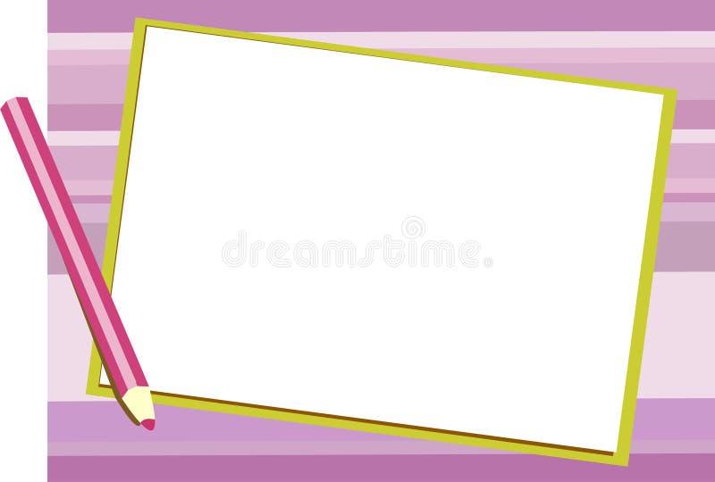 De purpere achtergrond van de Blocnote vector illustratie
