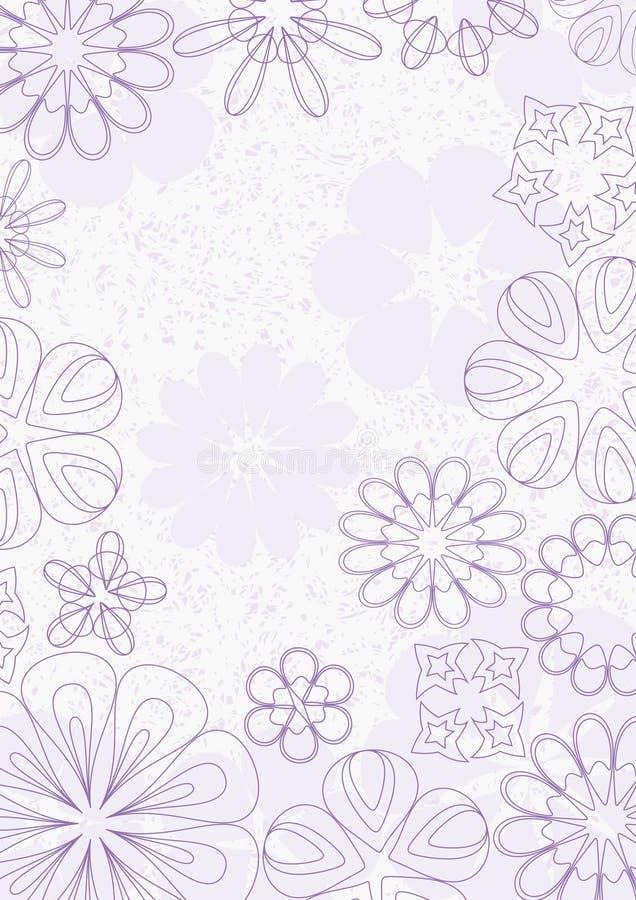 De purpere Achtergrond van Grunge van de Bloemen van Lijnen vector illustratie