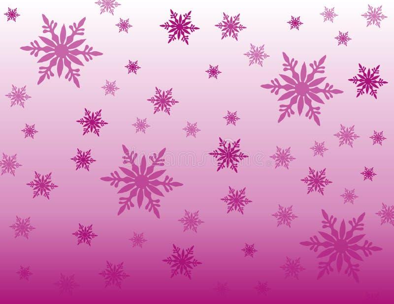 De purpere achtergrond van sneeuwvlokken royalty-vrije stock foto