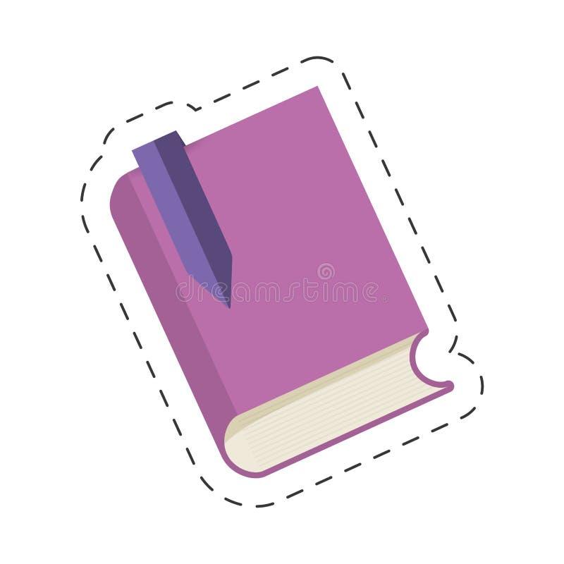 de purpere bibliotheek van boekreferenties royalty-vrije illustratie