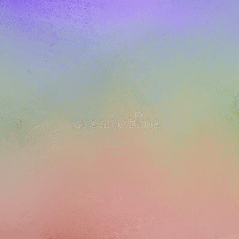 De purpere blauwgroene geeloranje rode en roze verf allen mengde samen met spons verontruste texturein zachte kleurenachtergrond stock foto's
