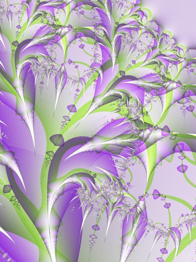 De purpere Bloem komt Fractal tot bloei royalty-vrije illustratie