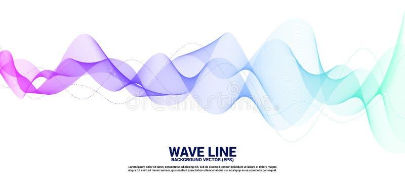 De purpere en blauwe kromme van de Correcte golflijn op witte achtergrond royalty-vrije illustratie