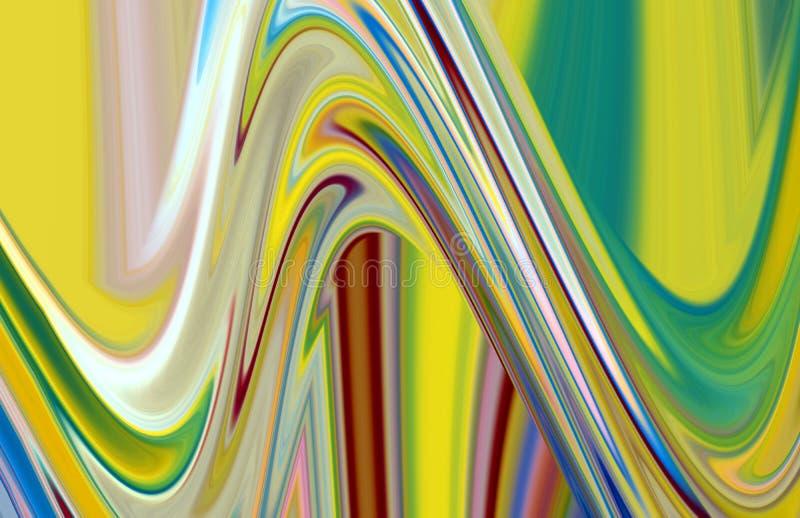 De purpere fosforescerende gouden beige vloeibare meetkunde, vat creatieve achtergrond samen stock illustratie