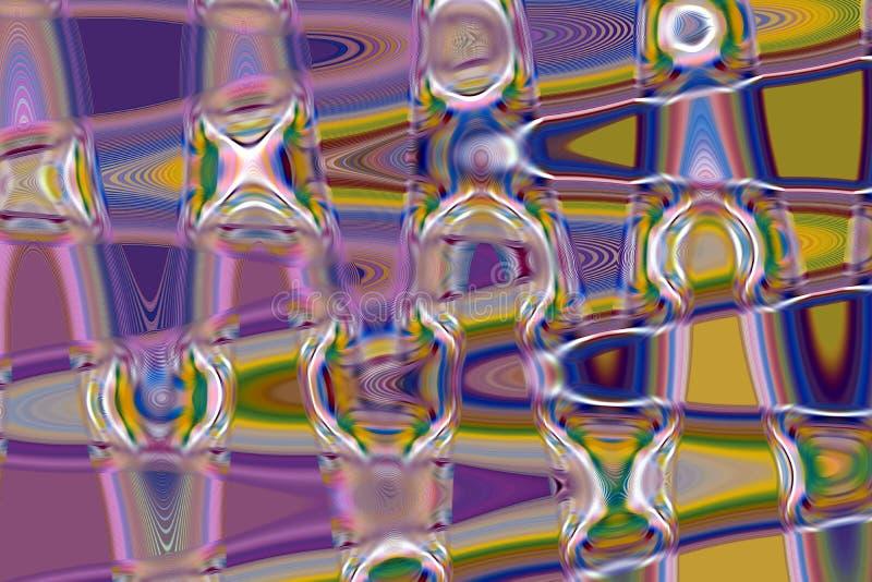 De purpere fosforescerende mosaical meetkunde, vat creatieve achtergrond samen vector illustratie