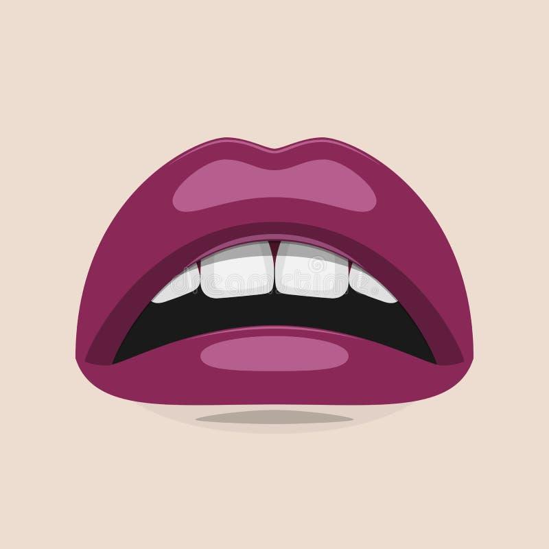De purpere Illustratie van de Lippenschoonheid vector illustratie