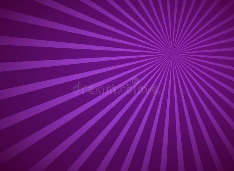 De purpere radiale achtergrond van stralen abstracte lijnen stock illustratie