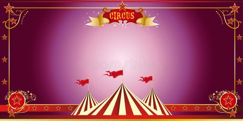 De purpere uitnodiging van het circus royalty-vrije illustratie
