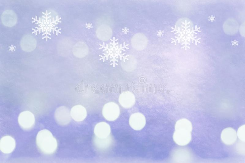 De purpere winter steekt sneeuwvlokken grungy textuur aan als achtergrond stock illustratie
