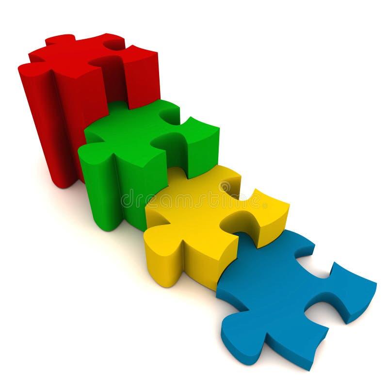 De puzzel van de stap stock illustratie