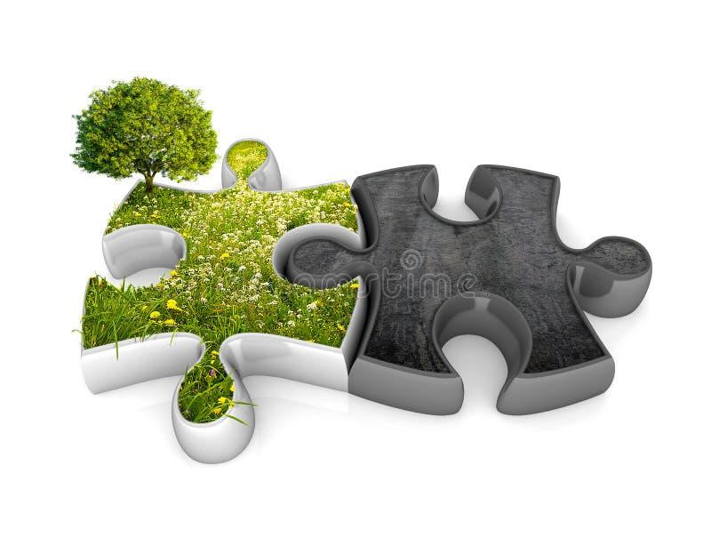 De puzzel van het milieu stock illustratie
